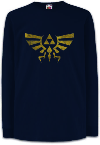TRIFORCE Logo Bambini Manica lunga T-SHIRT LEGEND link simbolo GAME Zelda Triforce