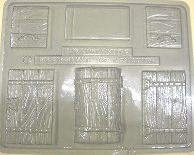 TREASURE CHEST PIRATE 3D CHOCOLATE SUGARCRAFT MOULD