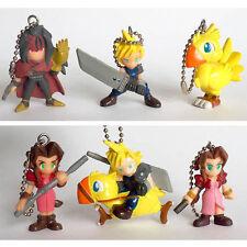Final Fantasy VII Swing Figure Keychain - Set of 6 Pcs. Vincent Chocobo