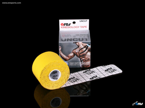 Ares Tape Uncut Kinesiology Elastic Sports Tape PRO Yellow Support KT