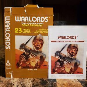 Warlords Box & Manual NICE Atari 2600
