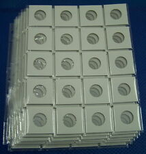 7 x 20 pocket page + 140 x 2X2 Cardboard coin Holders Flips for Quarter (26mm)