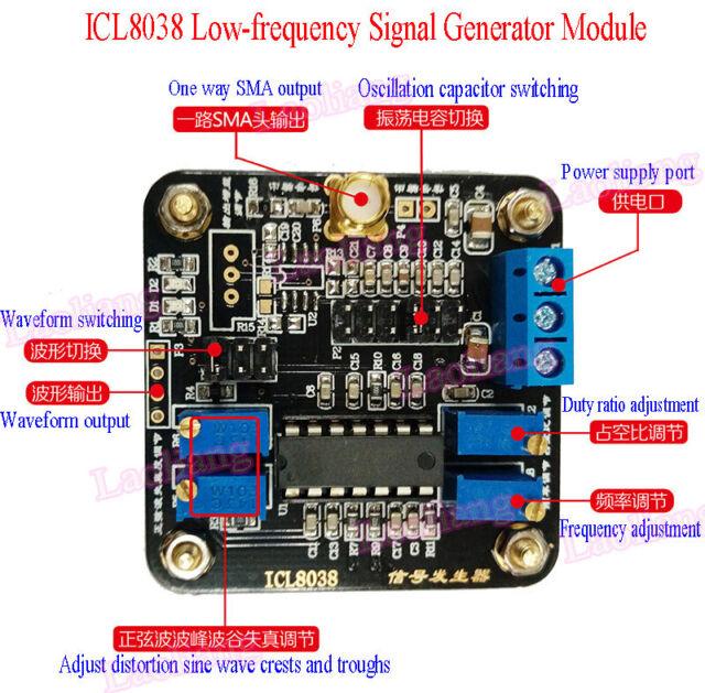 Icl8038 Tiefton Signalquelle Generator Module Sine Square Triangle Wave