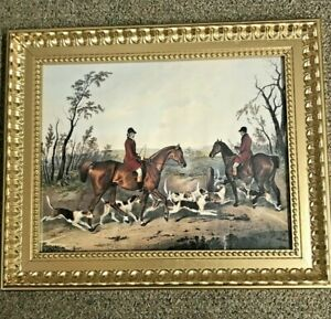 Vintage-Framed-Fox-Hunting-Print-Made-In-Canada-14-75-034-034-x-17-75-034-034