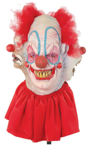Clowning Around Latex Mask 4 Evil Faces Killer Clowns Adult Halloween Accessory