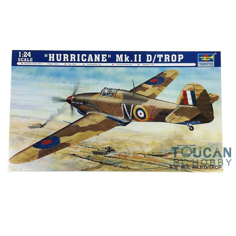 02417 British Fighter Plane 1 24 Hurricane Mk.II D-Trop Aircraft Kit Trumpeter