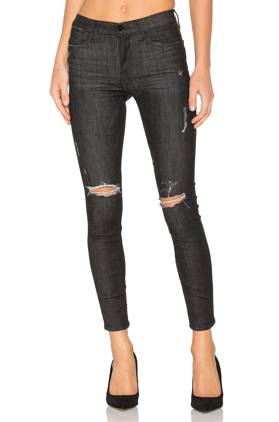 239 NEW FRAME Denim Le Skinny De Jeanne Distressed Skinny in Knox - Size 27