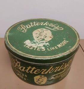 Vintage-Patterkrisp-Patterson-Chocolates-10LBS-Tin-Candy-General-Store-Decor