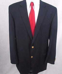 Joseph Feiss International Navy Blue Gold Buttons 48L Blazer Jacket