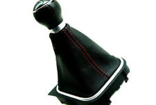 Manual Shift Boot Leather Synthetic For Vw Jetta Vento Bora Mk5 05 12 Red Stitch Fits Jetta