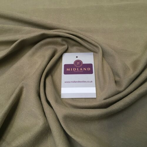"Plain French Cotton Terry Jersey dress fabric 58/"" Wide MK957 Mtex"