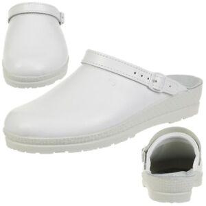 Rohde NEUSTADT D Zuecos Mujer Médico Hospital Zapatillas Zapatos 1440 blanco