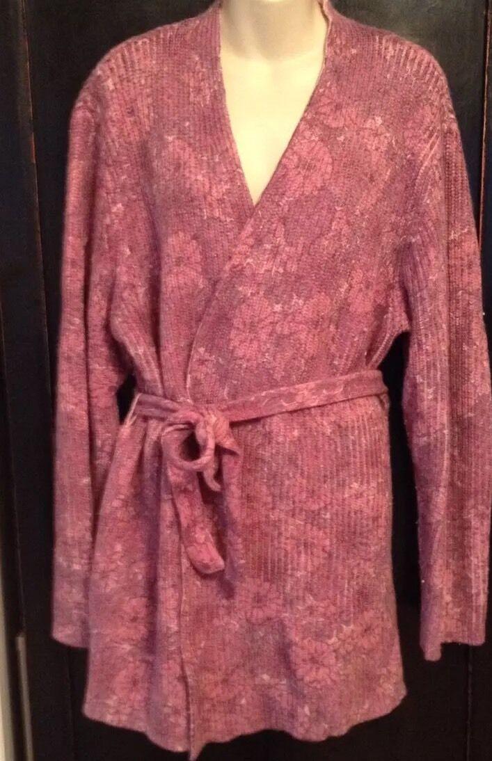 J JILL Long Sweater Pink Pink Pink Reversible Size XL a0c101