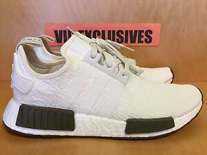 70b27a4d5acf9 Adidas NMD R1 Chalk White Olive Champs Exclusive 3M Nomad CQ0758 SZ ...