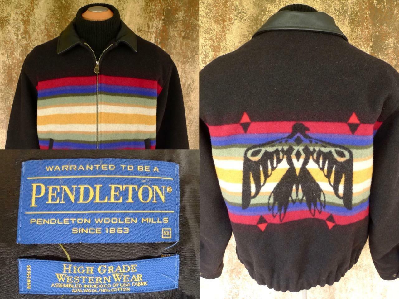 ✰ Vintage PENDLETON THUNDERBIRD WOOL BLANKET JACK… - image 1