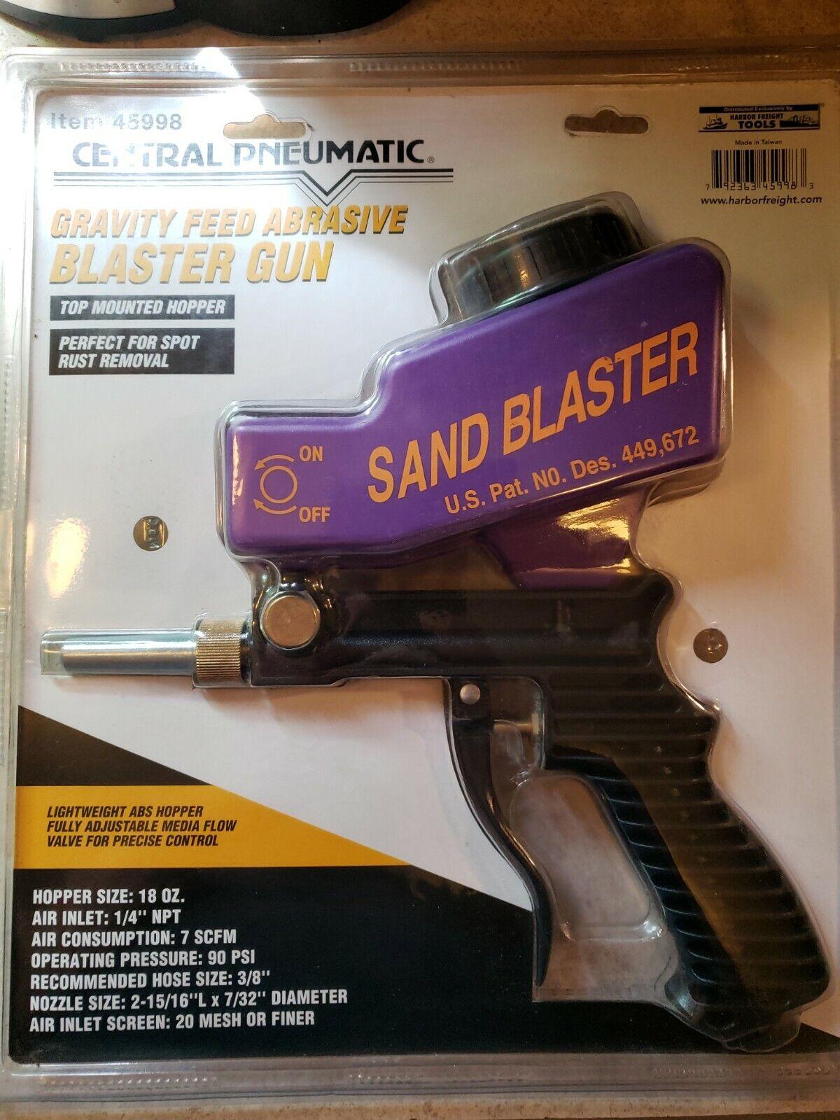 Hand Held Gravity Feed Sand Blaster Anti Rust Sand Blaster 1//4/'/' Air Inlet
