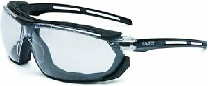 Uvex S4040 Tirade Safety Glasses/Goggle with Black Frame and Clear Anti-Fog Lens