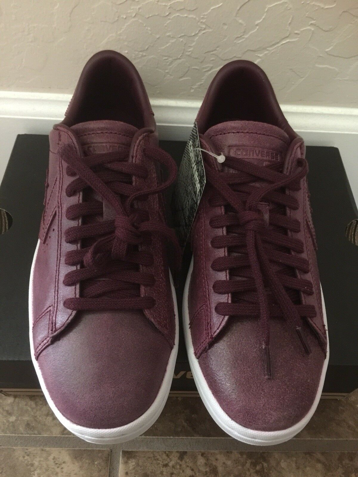 Converse Women Chuck Taylor All Star Pro Pro Pro Leather Low Profile Powder Suede shoes 12a05d
