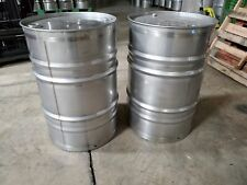 55 Gallon Stainless Steel Drum Barrel Closed Top New Other Thick Sku 332