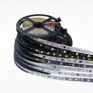 12V-Magic-Dream-Color-WS2811-5050-RGB-LED-Strip-5M-150-240-300-SMD-White-Black