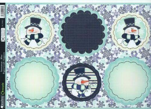 8 Kanban Xmas Die Cut Topper Sheets Santa Scenes Snowman etc Festive Quilts