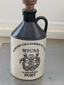 Collectable-Port-Bottle-Drayton-Newcom-Collieries-Myuna-Ist-Edition-1987