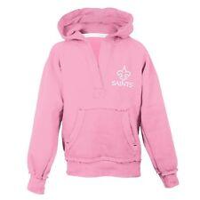 ($45) REEBOK New Orleans Saints nfl PINK Jersey Sweatshirt Youth GIRLS m 10-12