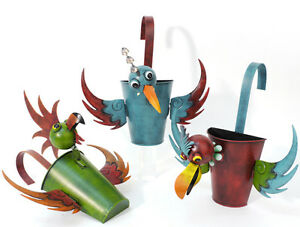 pflanztopf birds zum h ngen exklusiv 920450 bertopf blumentopf gartendeko ebay. Black Bedroom Furniture Sets. Home Design Ideas