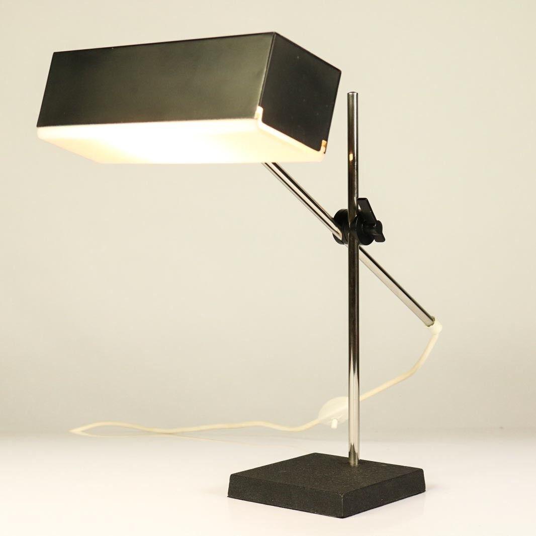 Leclaire & Schäfer alte Tisch Techniker Leuchte Gelenkarm Lampe Vintage 60er