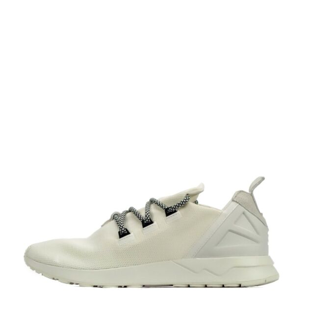 newest f0f36 1a2ae adidas Originals ZX Flux ADV X Mens Casual Trainers Shoes Off White