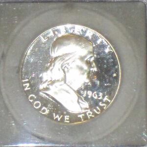 1958 Proof Silver Franklin Half Dollar 50c NGC PF68 Cameo