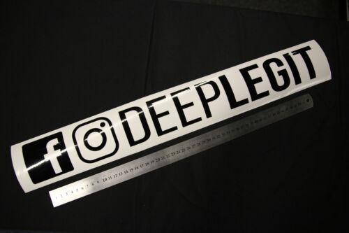 DeepLegit Socialmedia Aufkleber 60cm  Deep Legit DPLGT