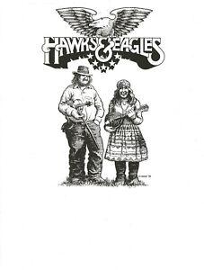 R-CRUMB-PROOF-COPY-OF-ORIGINAL-PRELIMINARY-ARTWORK-FOR-HAWKS-amp-EAGLES-LP-1978