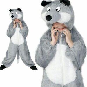 Child-Wolf-Costume-Boys-Girls-Animal-Fancy-Dress-Kids-Book-Week-Outfit-Medium