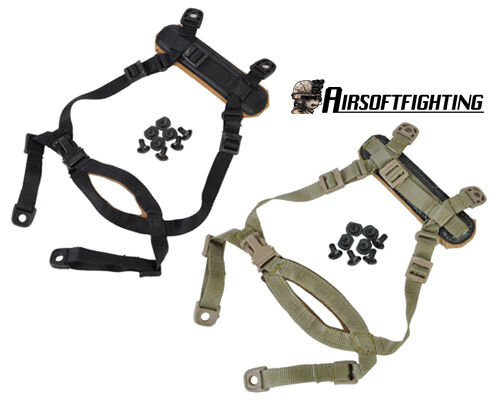 1X Tactical Airsoft Suspension System Military Chin Strap for MICH Helmet A