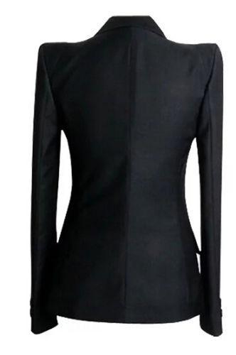 Fashion Power con spalle smoking Giacca Chic donna per scoperte Jacket da XwXI0qTz