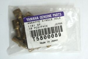 Yamaha-Genuine-Parts-Agraffe-Single-Hole-10-Stk-Messing-Fluegelzubehoer-Ersatzteil