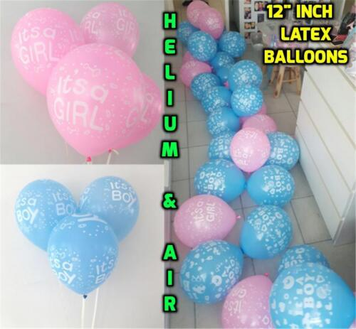 "Bear Baby Shower ballon 12/"" self gonflage ballons Fille Bébé Rose//garçon bleu"