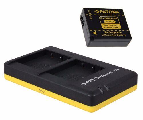 Batería dmw-blg10-e dual-cargador para Panasonic Lumix dmc-tz81//dmc-tz101