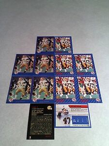 Larry-Wruck-Lot-of-20-cards-3-DIFFERENT-Football-CFL