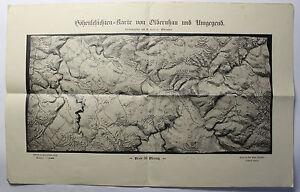 Hoehenschichtenkarte-Olbernhau-amp-Umgebung-um-1920-Sachsen-Landkarte-Emil-Weigel