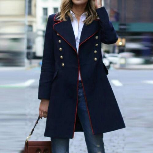 ZANZEA Women Business Casual Formal Suit Blazer Overcoat Coat Plus Size Jacket