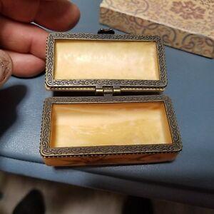 Vintage Asian Chinese Bone Carved Dragon Jewel Pill Trinket Box Nice Ebay