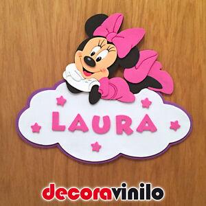 Placa decorativa puerta goma eva minnie mouse 22x19cm ge02 for Decoracion habitacion bebe goma eva