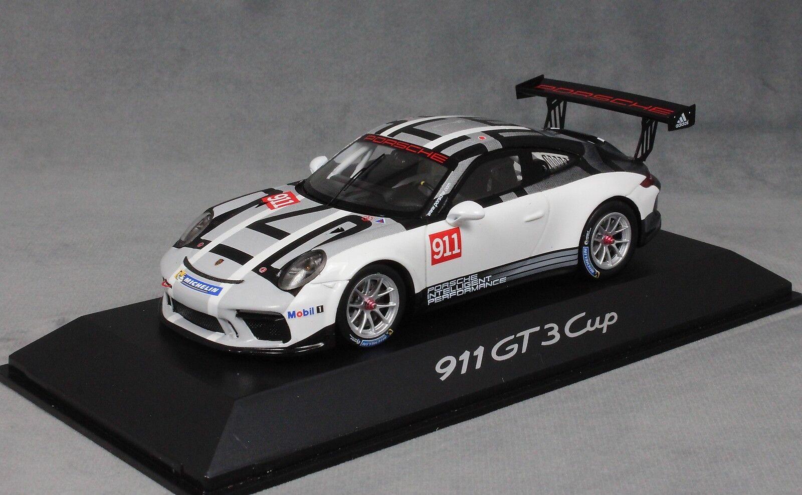 Spark Porsche 911 991 GT3 2017 Carrera Cup Promotional voiture WAP0201500H 1 43 NEUF