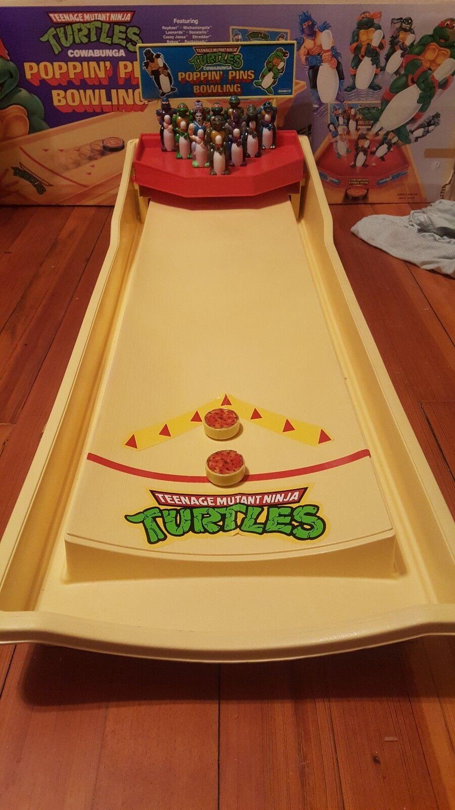 Teenage Mutant Ninja Turtles Popin' Pins Bowling Set 100% COMPLETE