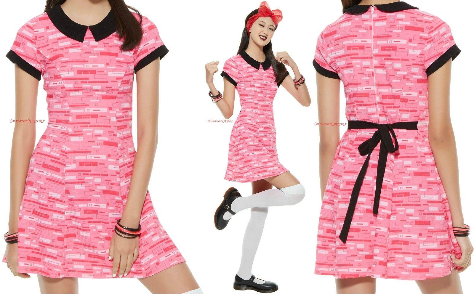 BLOSSOM COSPLAY DRESS FOR JUNIORS  THE POWERPUFF GIRLS  FREE SHIPPING
