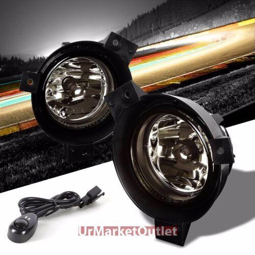 Smoke Lens Chrome Housing Front Bumper Fog Light//Lamp For Ford 01-03 Ranger
