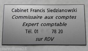 Plaque Professionnelle Gravée Signaletique Personnalisée 4 Ou 5 Lignes Pt Format 4uqrbzxh-07230324-246343967