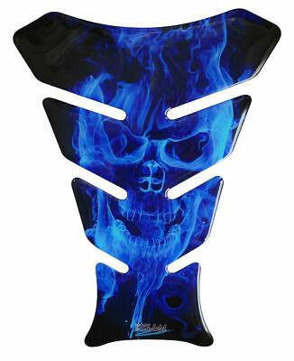 Abile Cuscinetto Serbatoio 3d Blue 500067 Universalmente Corrispondente Moto Serbatoio Protezione Adesivo-